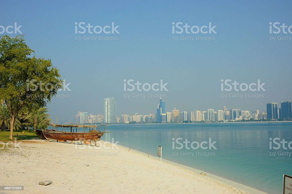 Abu Dhabi Skyline royalty-free stock photo