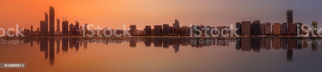 Abu Dhabi Skyline stock photo