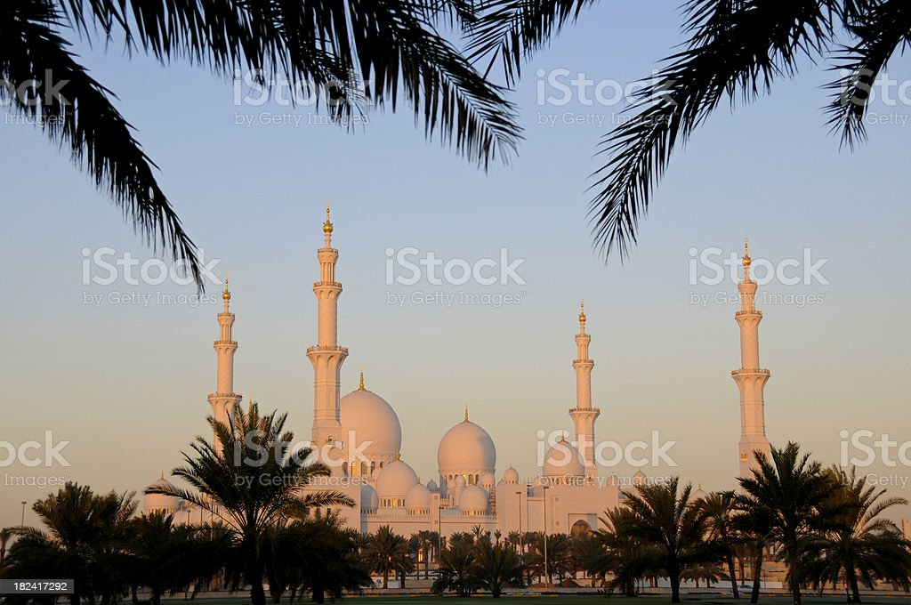 Abu Dhabi's Sheik Zayed Grand Mosque royalty-free stock photo