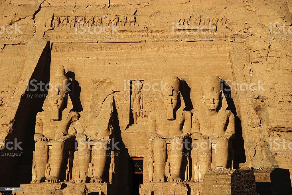 Abu Simbel colossus, Egypt, Africa stock photo