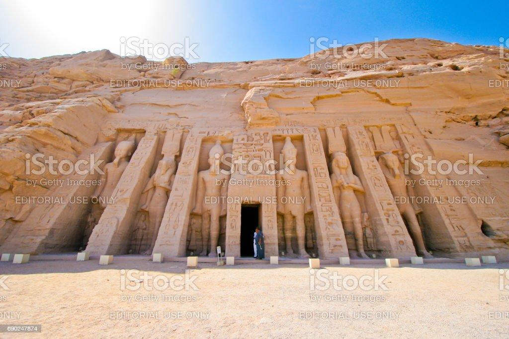 Abu Simbel, Egypt stock photo