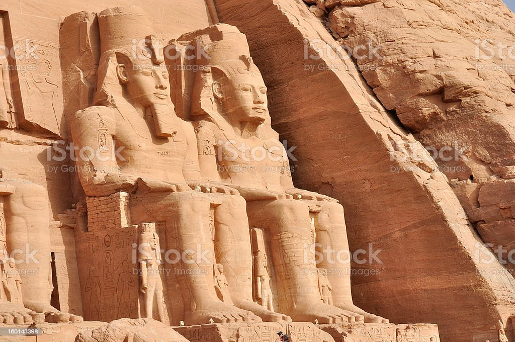 Abu Simbel Great Temple in Egypt royalty-free stock photo