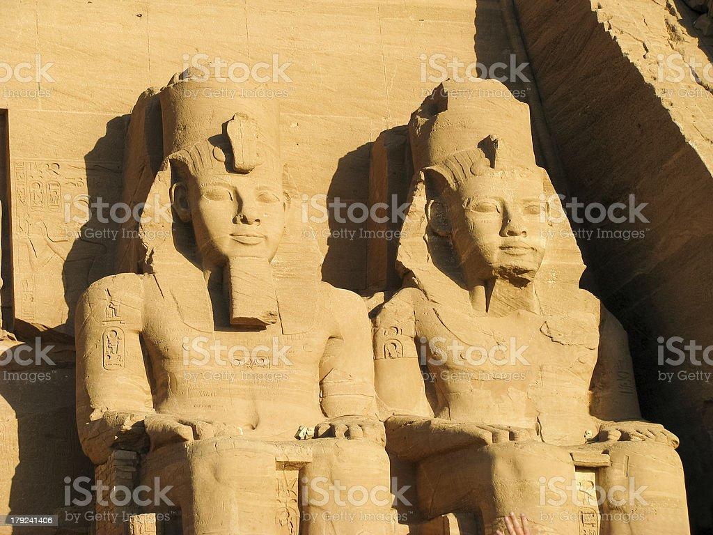 Abu Simbel heads Rameses II Egypt royalty-free stock photo