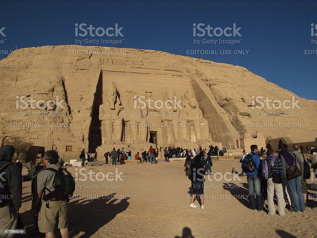 Abu Simbel in Egypt royalty-free stock photo