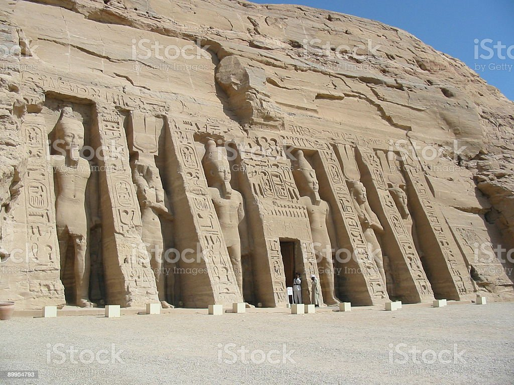 Abu Simbel in Egypt stock photo