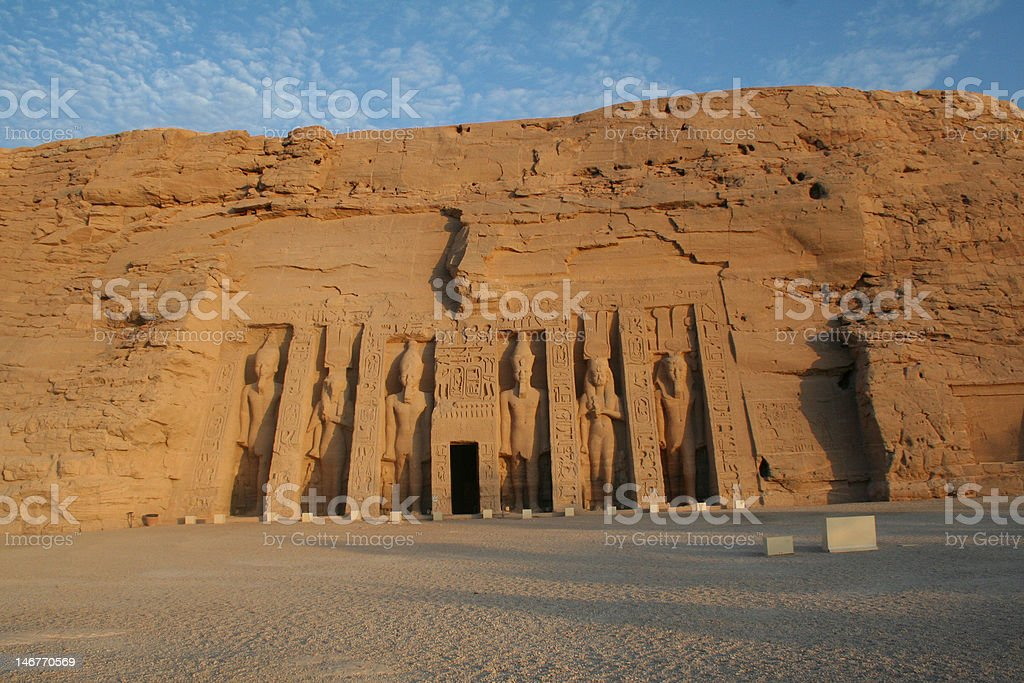 Abu Simbel - Nefertari's Temple of Hathor royalty-free stock photo