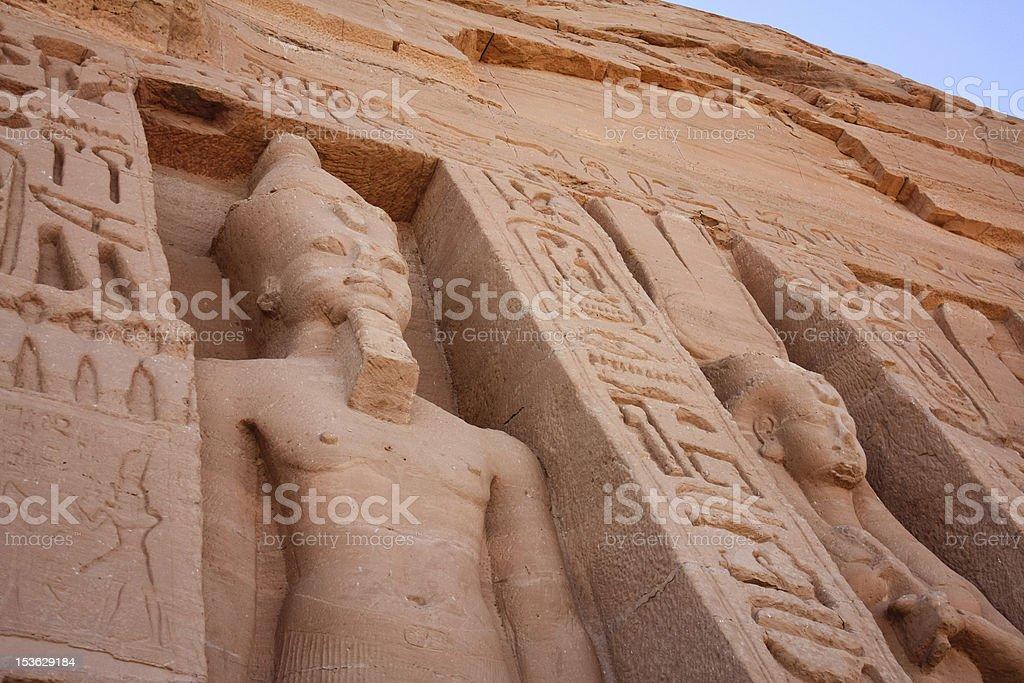 Abu Simbel Nefertari's Temple of Hathor royalty-free stock photo