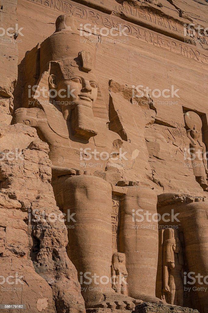 Abu Simbel statue stock photo