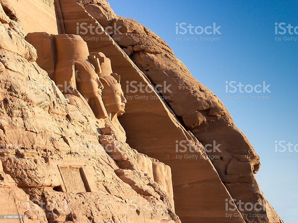 Abu Simbel Statues, Egypt stock photo