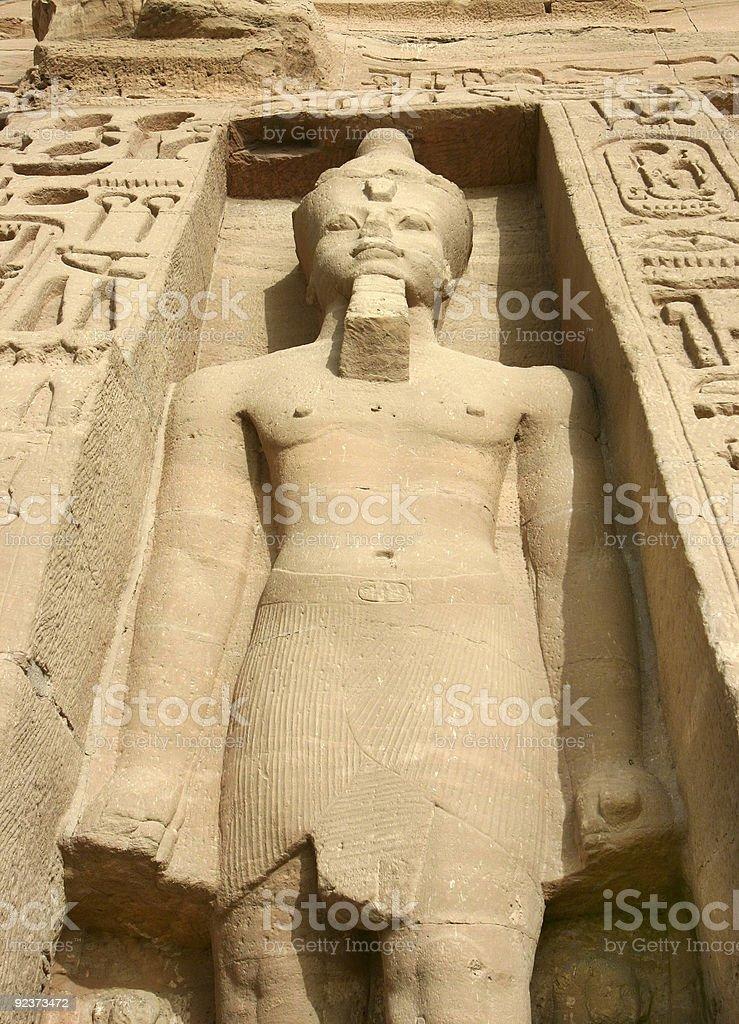 Abu Simbel statues of Nefertari as goddess Hathor royalty-free stock photo