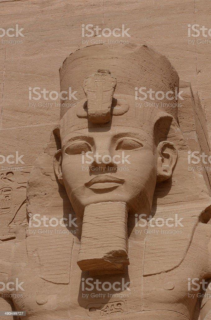 Abu Simbel temple detail stock photo
