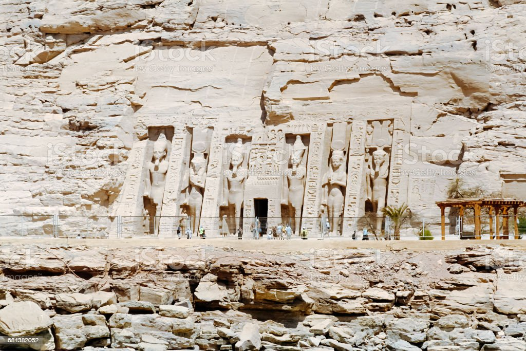 Abu Simbel Temple of Ramesses II, Egypt stock photo