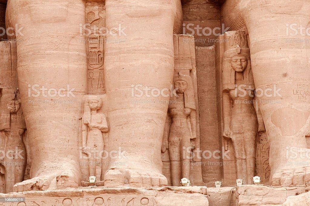 Abu Simbel temple of Ramses II, Egypt. royalty-free stock photo