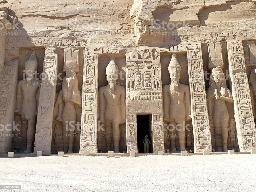 Abu Simbel temple royalty-free stock photo