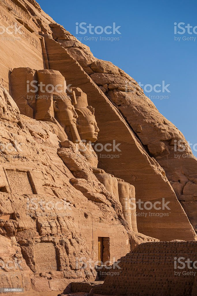 Abu Simbel temple stock photo