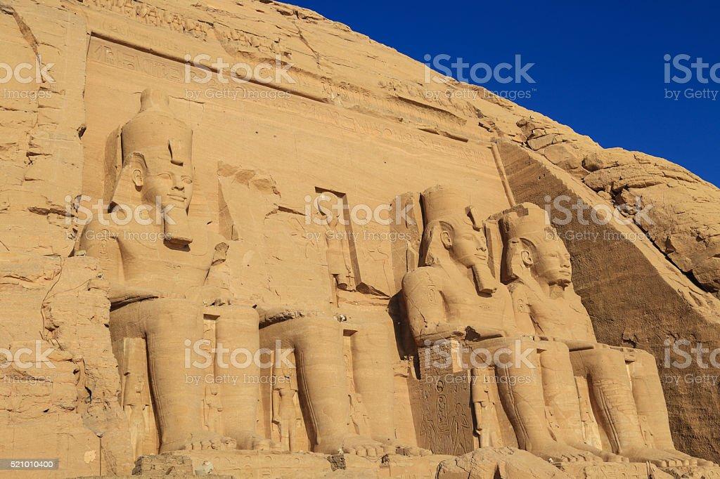 Abu Simbel temple ruins,Egypt stock photo
