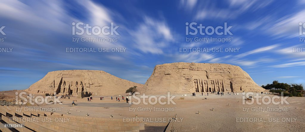 Abu Simbel temples ,in Egypt stock photo
