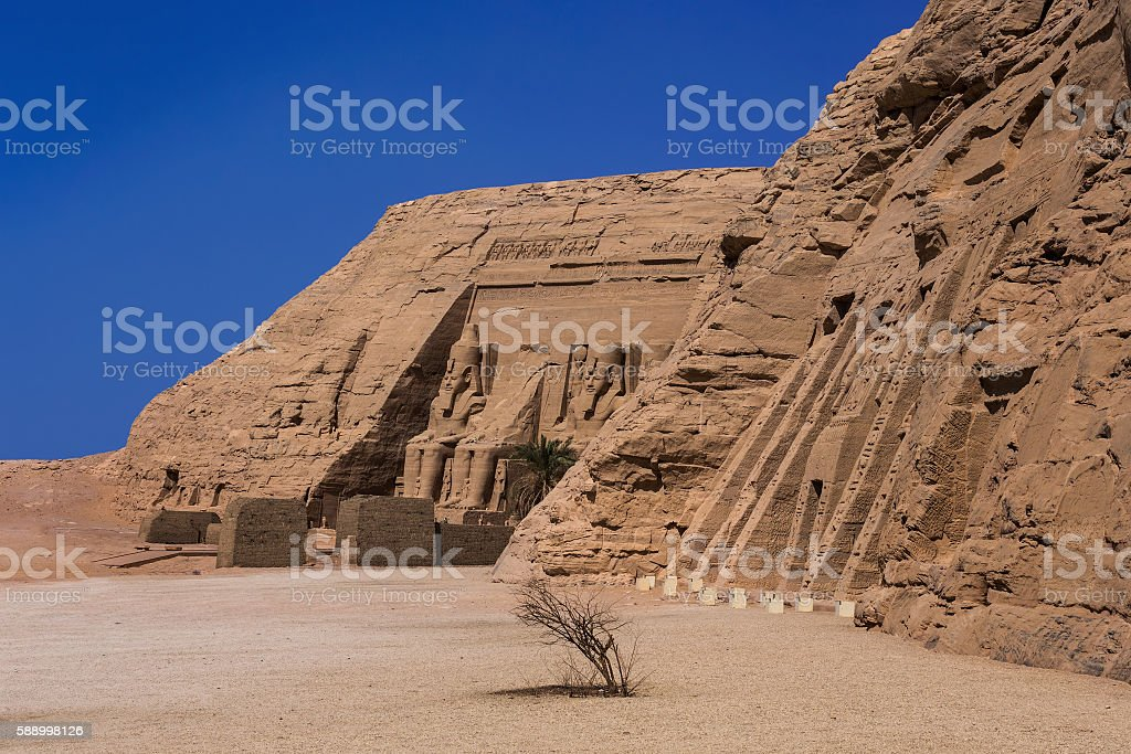 Abu Simbel temples stock photo