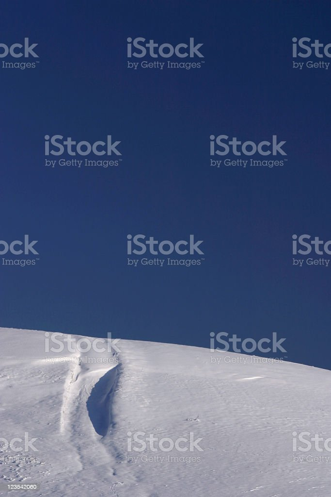 Abudant snow trail royalty-free stock photo