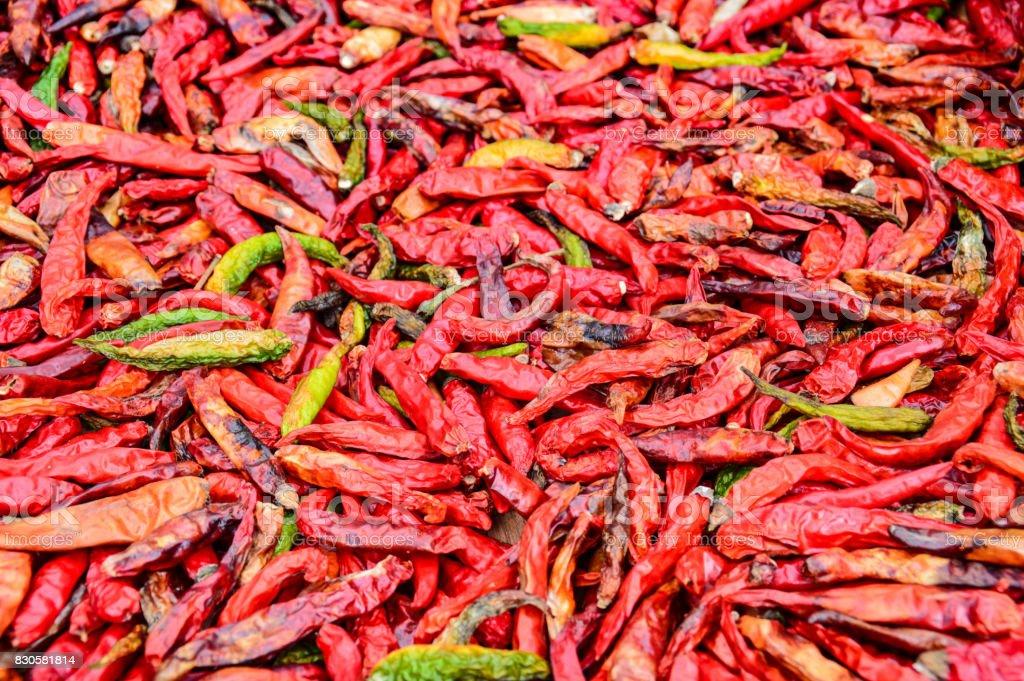Abundance of red chili stock photo
