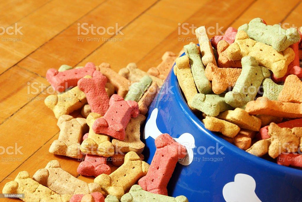 Abundant Dog Treats stock photo
