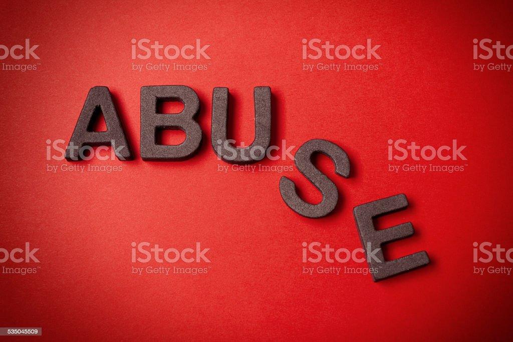 Abuse stock photo