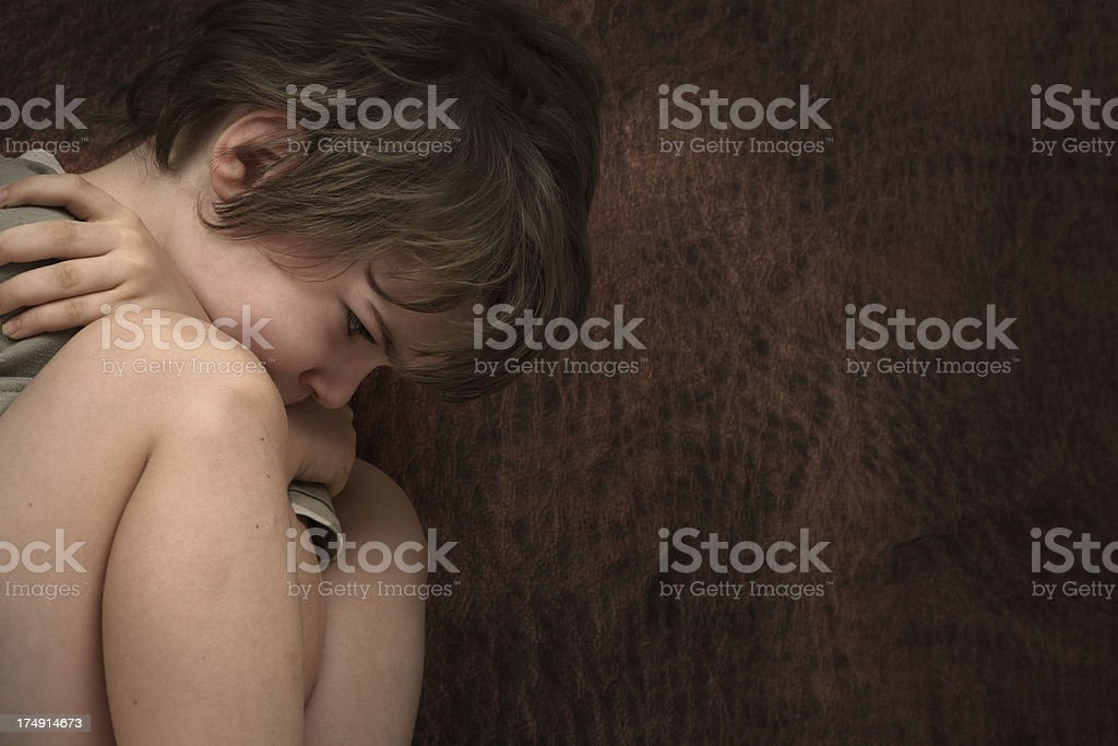 Abused Child stock photo