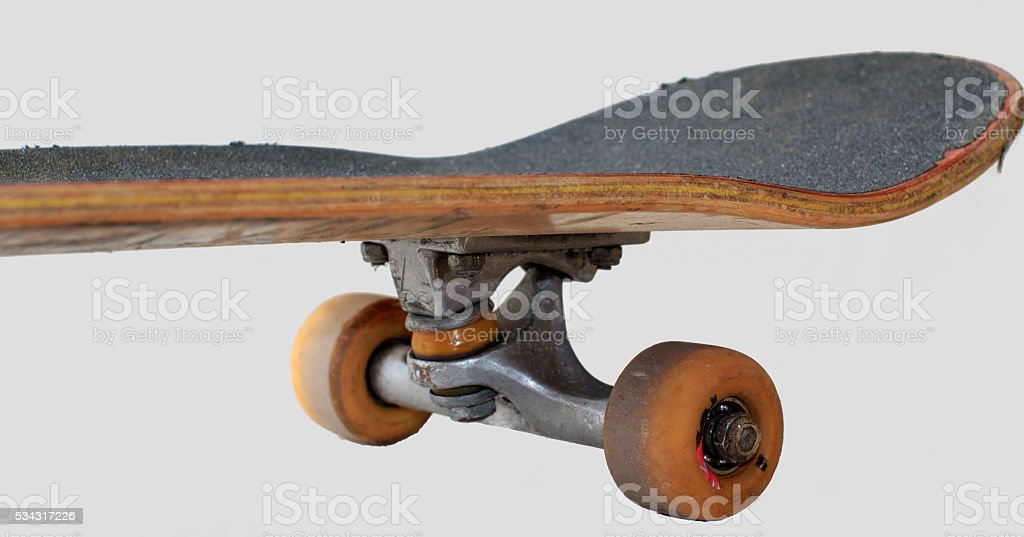 Abused Skateboard stock photo