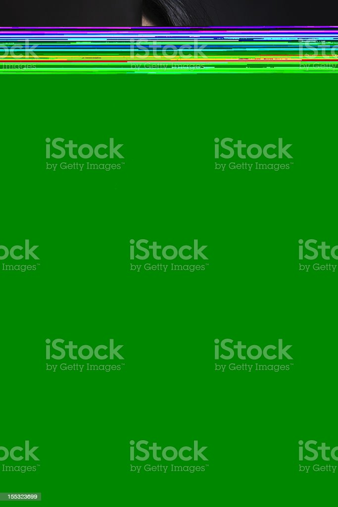Abused woman hiding in dark royalty-free stock photo