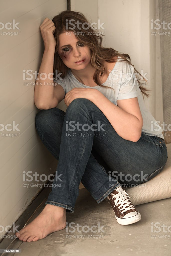 Abused woman. royalty-free stock photo