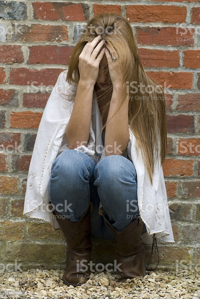 Abused Women royalty-free stock photo