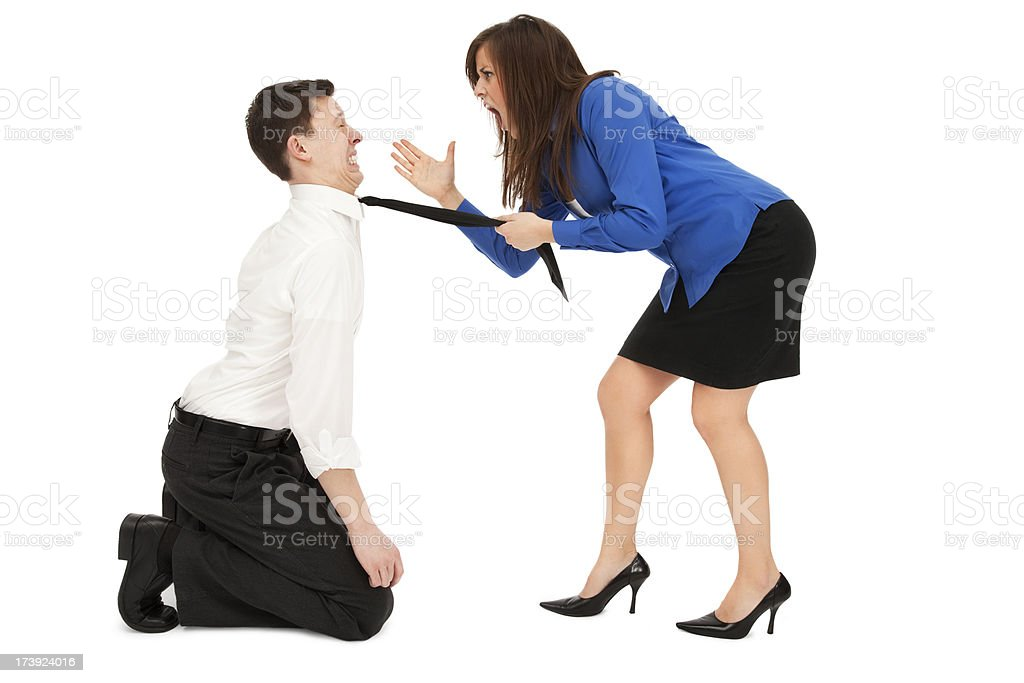 Abusive Boss royalty-free stock photo