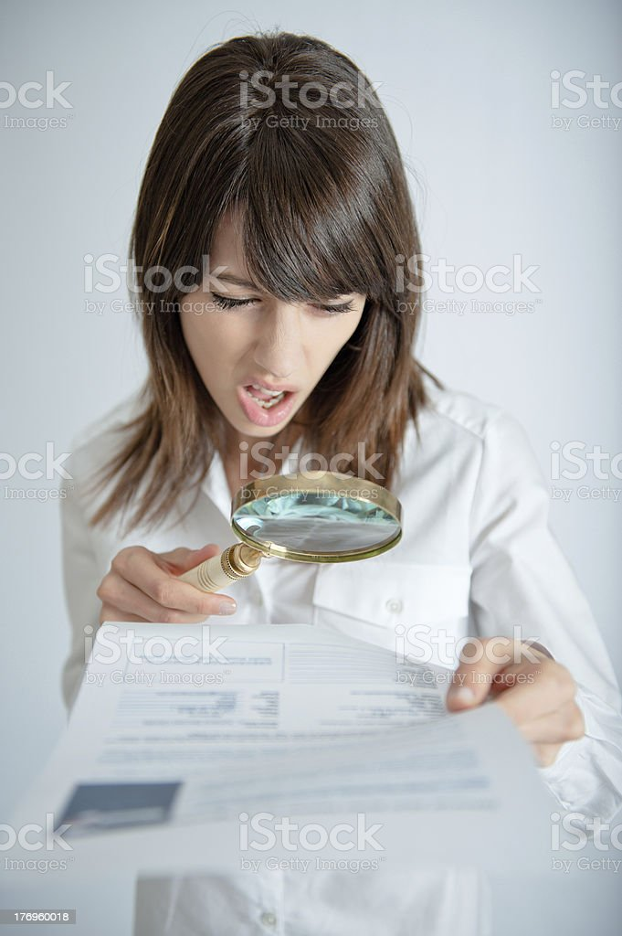 Abusive clause stock photo