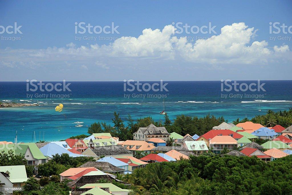 Abve Orient Beach, St. Maarten stock photo