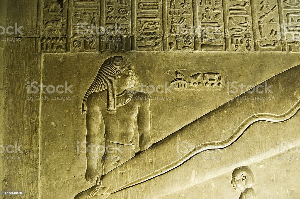 Abydos Lights detail, Egypt stock photo