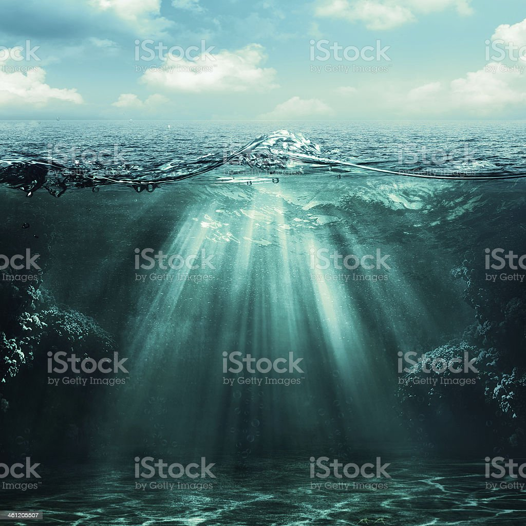 Abyss. Abstract environmental backgrounds for your design stock photo