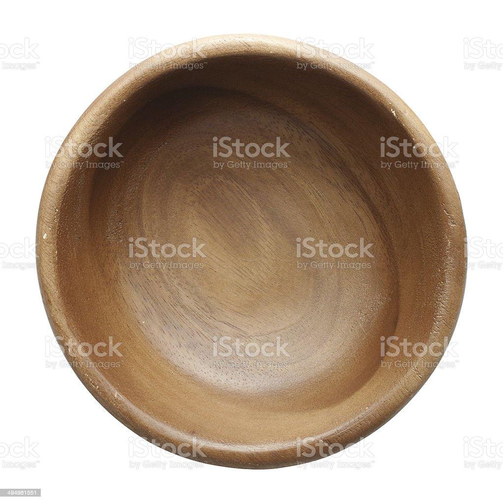 Acacia wood bowls stock photo