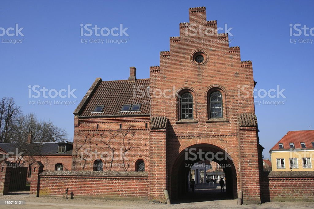 Academia Sorana / Sor? Akademi the gate house royalty-free stock photo