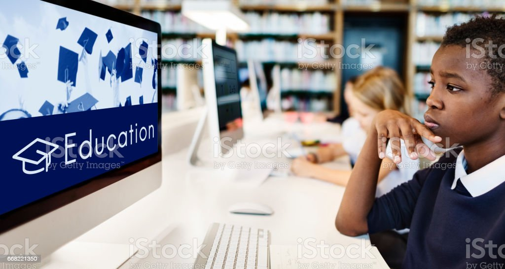 Academy Certification Curriculum School Icon stock photo