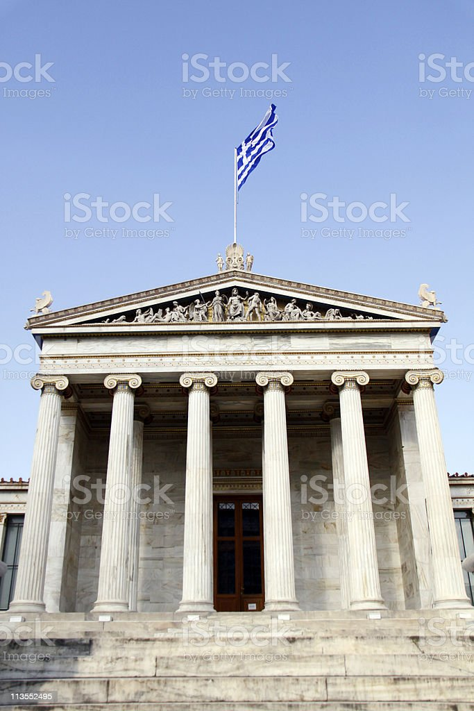 Academy of Athens royalty-free stock photo