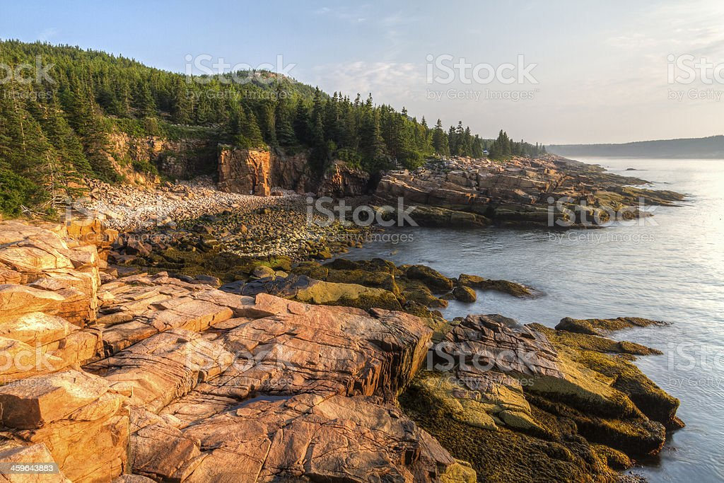 Acadia Morning at Monument Cove stock photo