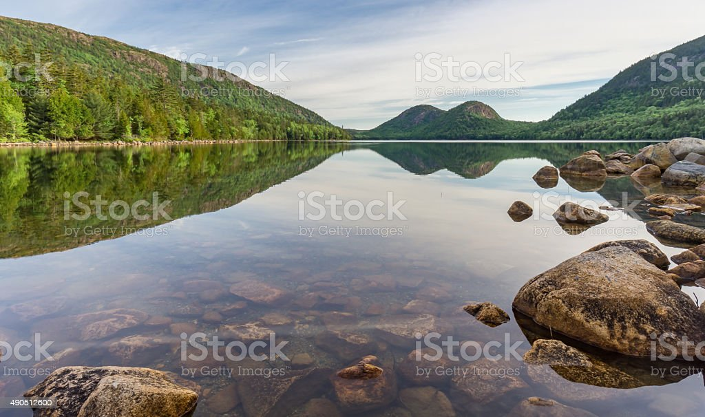 Acadia National Park Bubbles in Jordan Pond stock photo