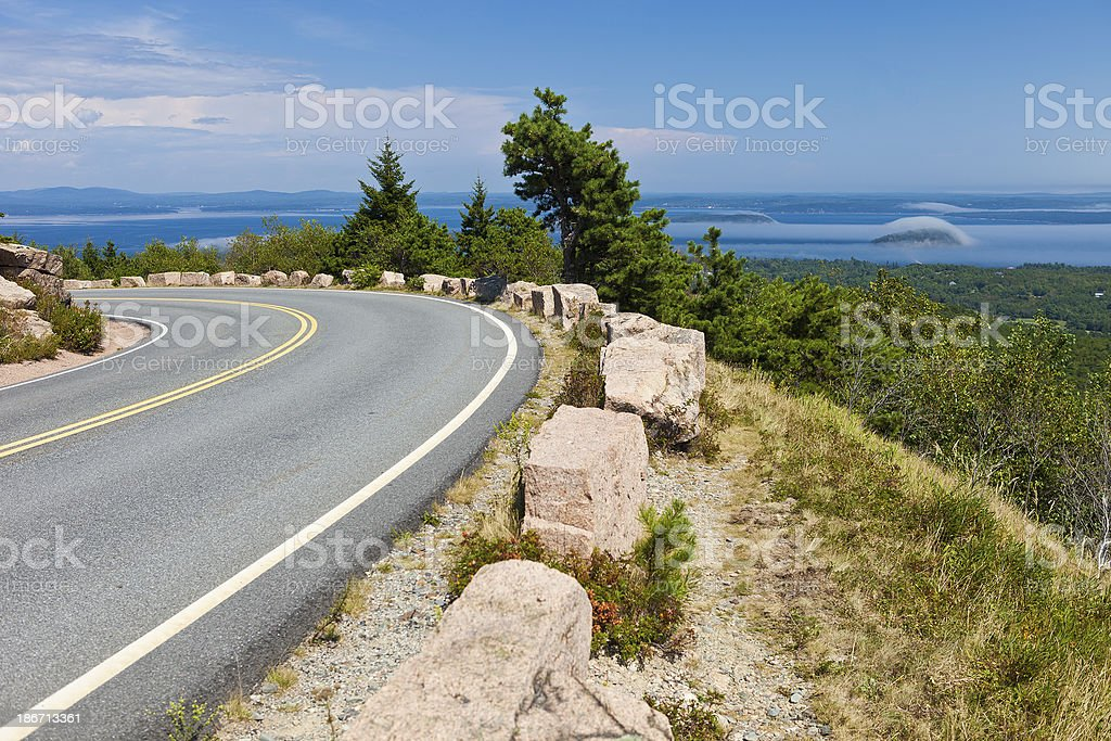 Acadia National Park In Maine stock photo
