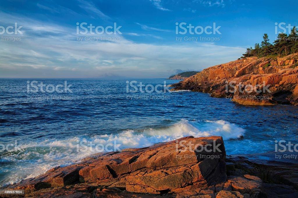 Acadia National Park Seascape stock photo