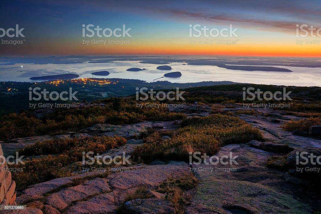 Acadia Sunrise stock photo