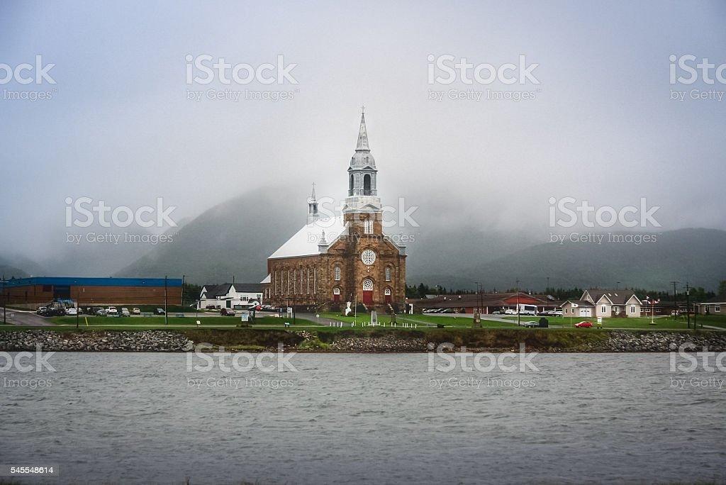 Acadian village stock photo