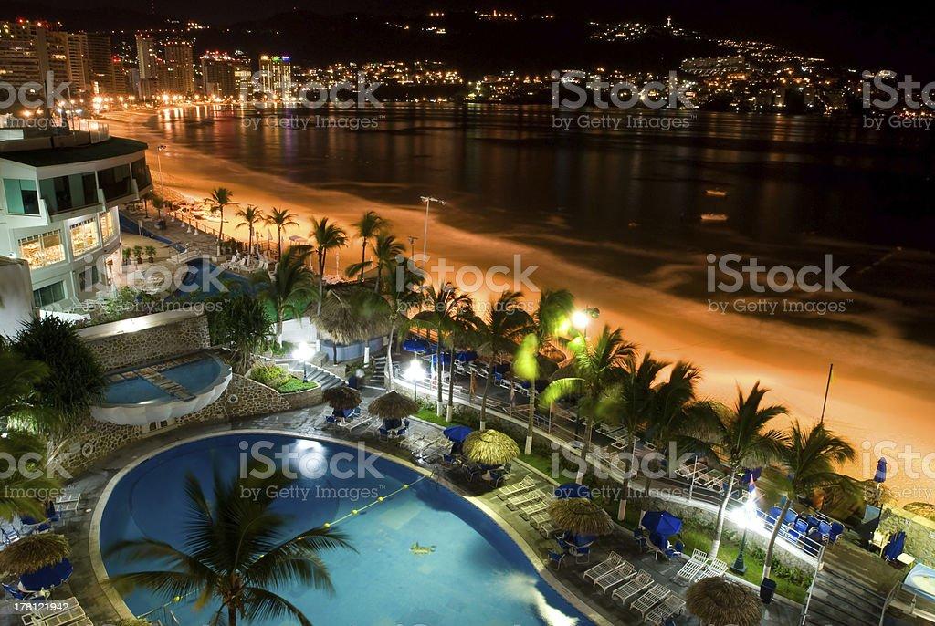 Acapulco at Nights stock photo