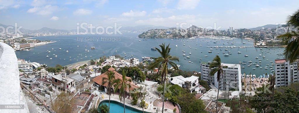 Acapulco Bay from Casa Blanca stock photo