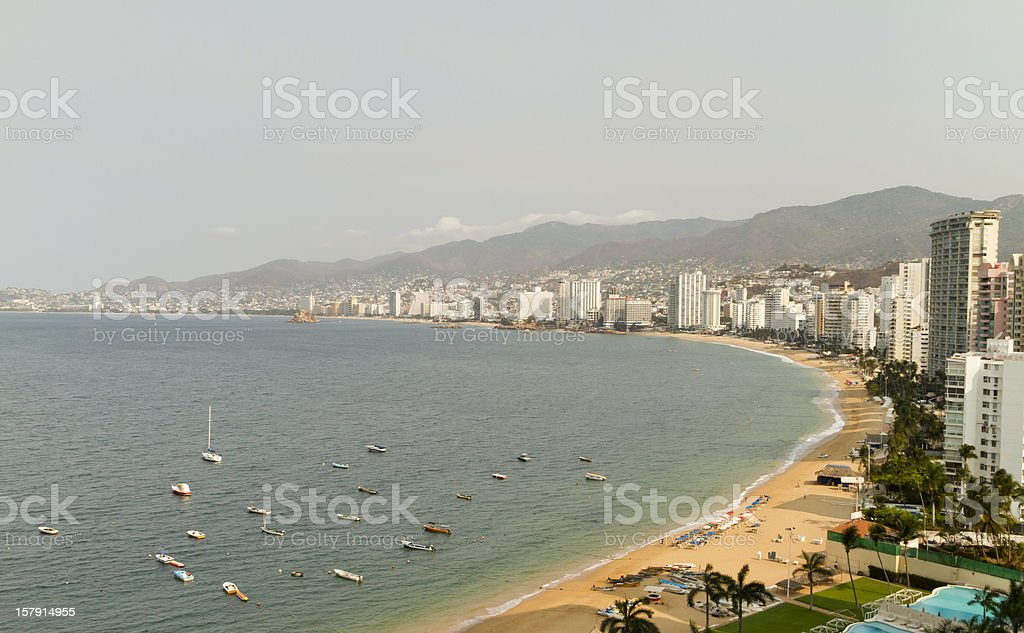 Acapulco Bay Morning royalty-free stock photo