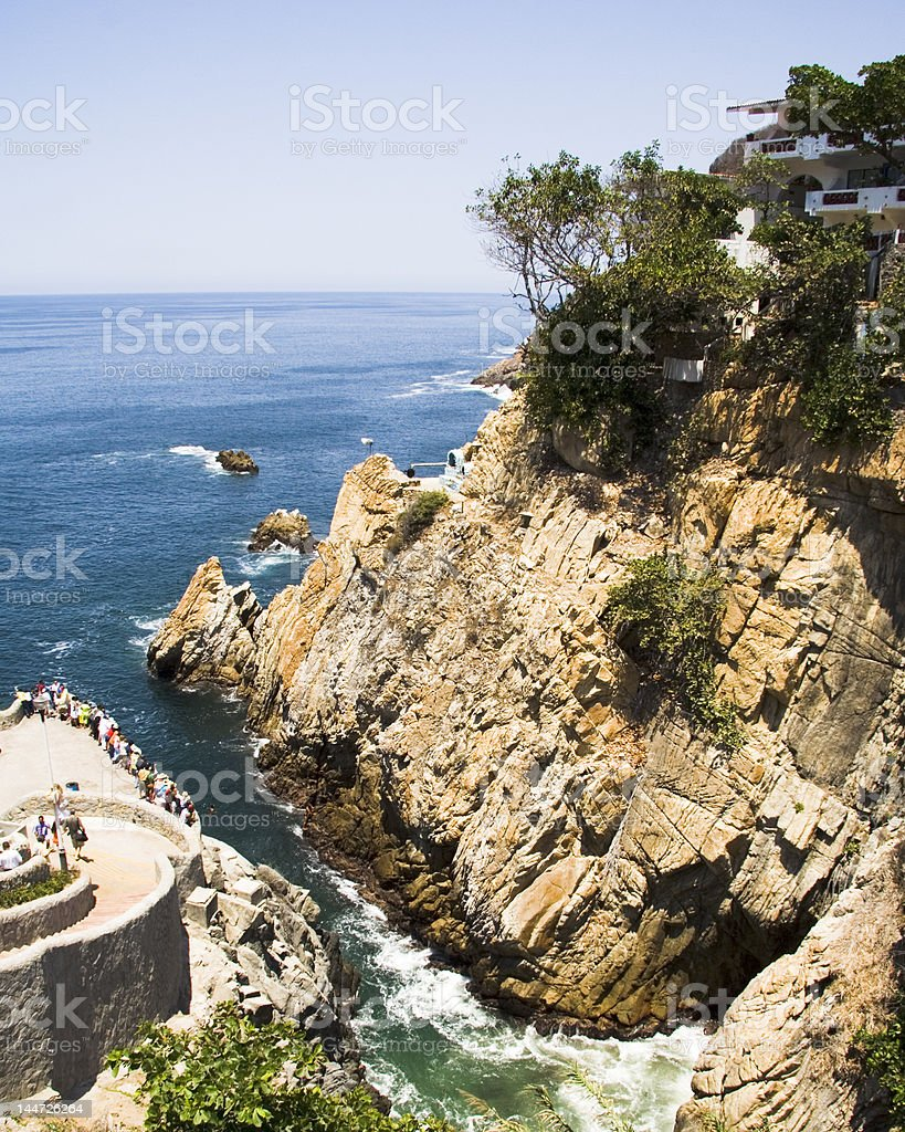 Acapulco Cliff Diving Location stock photo